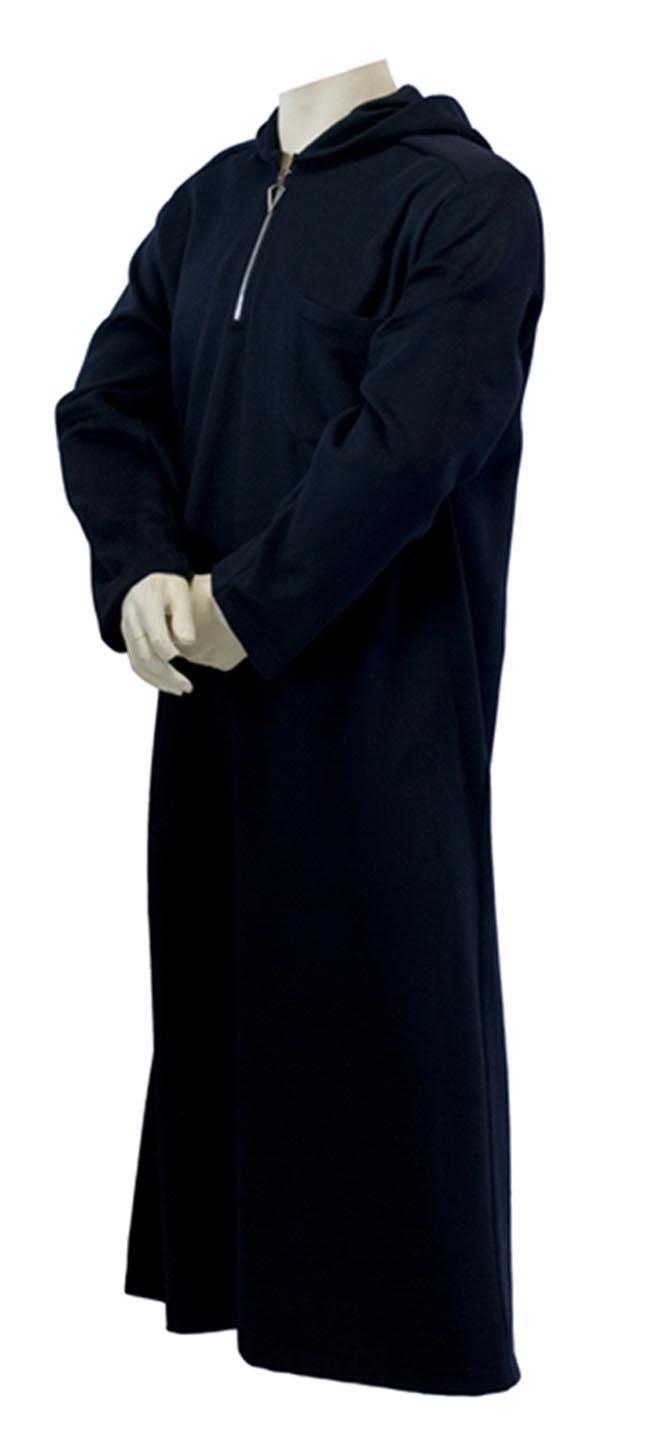 Navy Blue mens Zip wool buttons side
