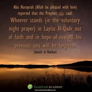 stands on laylatul qadr