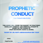 Prophetic conduct (1)